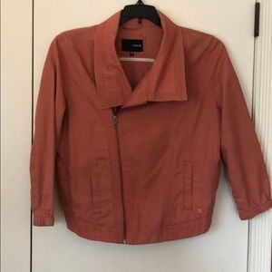 Hurley Rust Colored Bomber Cropped Jacket